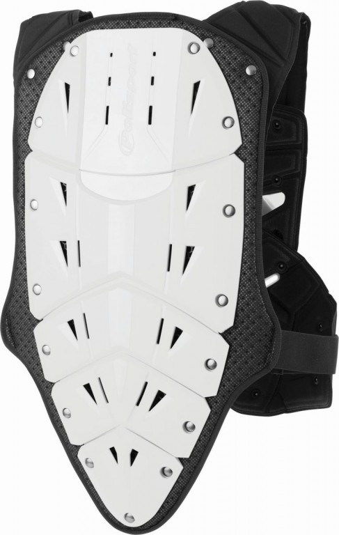 Chest & back protector ROCKSTEADY FUSION short version white