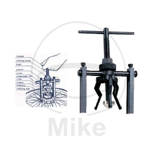 Wheel bearing puller 13-38 mm